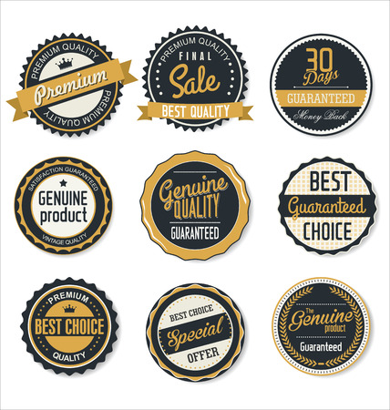 quality guarantee: Premium, quality retro vintage labels collection