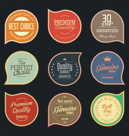 retro label: Modern badges collection Illustration