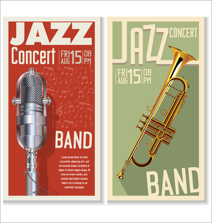 classical music: Jazz music festival, poster Illustration