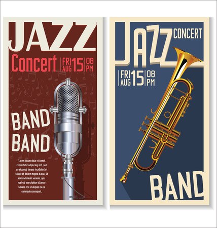 music: Jazz music festival, poster Illustration