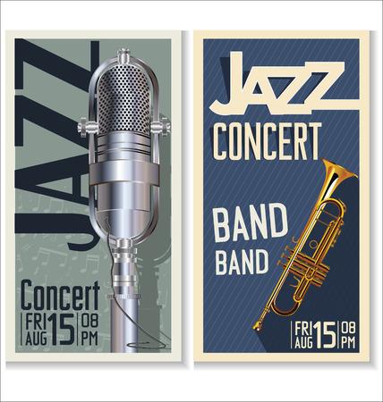 live: Jazz music festival, poster Illustration