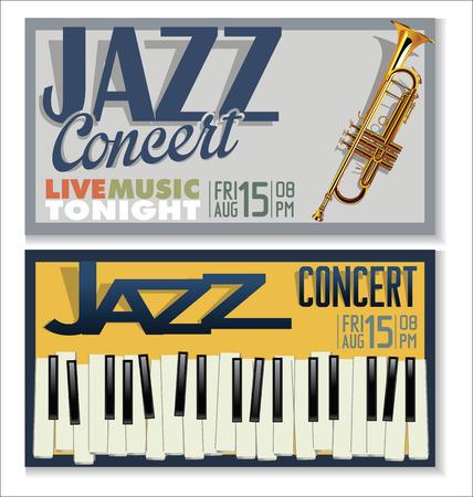 jazz music: Jazz music festival, poster Illustration