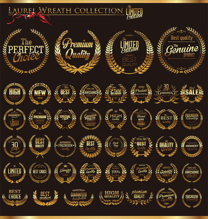 guarantee seal: Premium quality laurel wreath collection