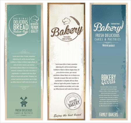 bakery: Bakery retro background