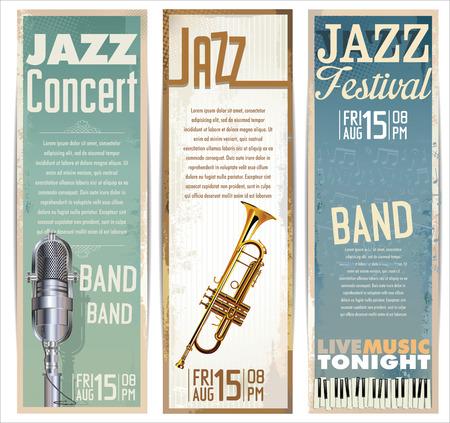 Jazz achtergrond Stock Illustratie