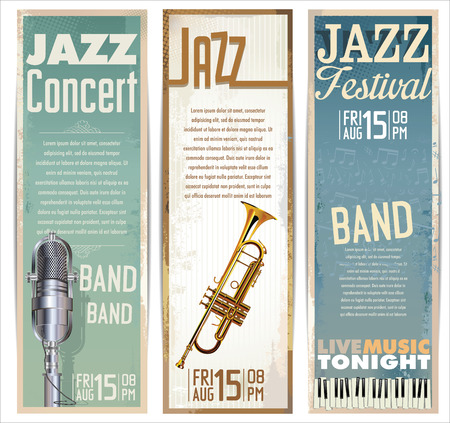 musical backgrounds: Jazz background Illustration