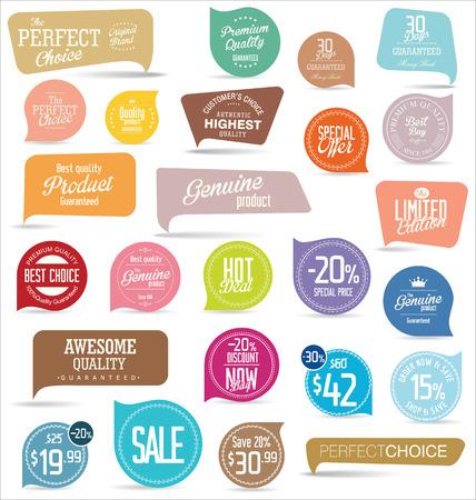 Modern badges collection  イラスト・ベクター素材