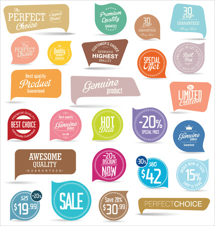 sale sticker: Modern badges collection Illustration