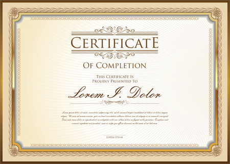 template frame: certificate template