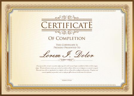 Plantilla de certificado Foto de archivo - 43201017
