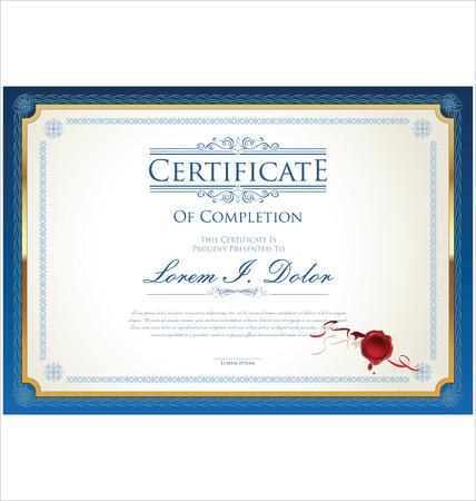 Modello di certificato Archivio Fotografico - 43201023