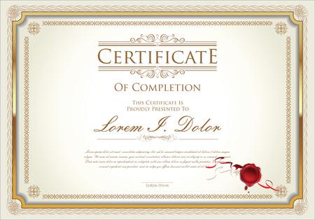 certificate template Stok Fotoğraf - 43201078