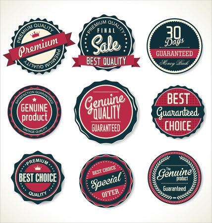 Retro badges collection 向量圖像