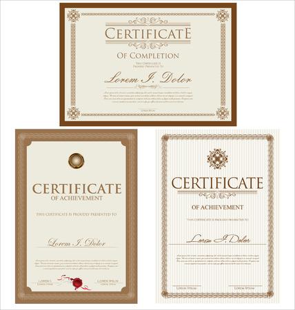 Modello di certificato Archivio Fotografico - 43201033