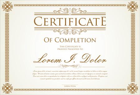 Modello di certificato Archivio Fotografico - 43201031