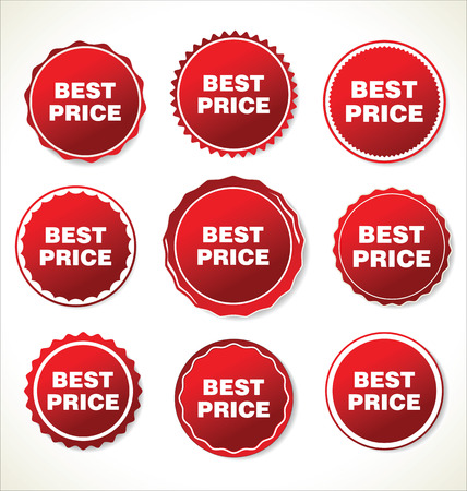 price tag: Modern red  badges collection