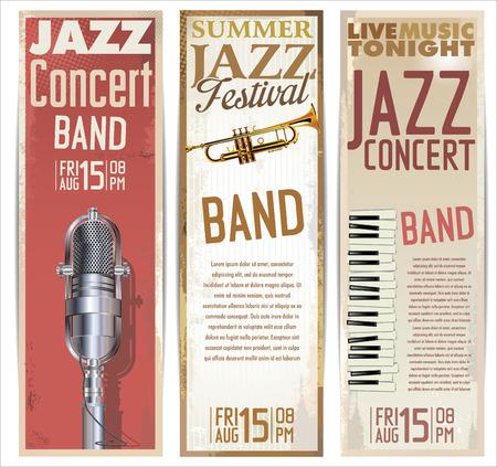 piano: Jazz plantilla de diseño Vectores