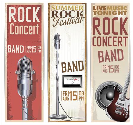 Rock festival ontwerp sjabloon
