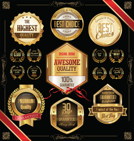 choices: Quality golden badges and labels collection