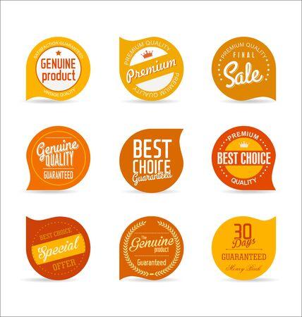 sticker vector: Modern badges collection Illustration