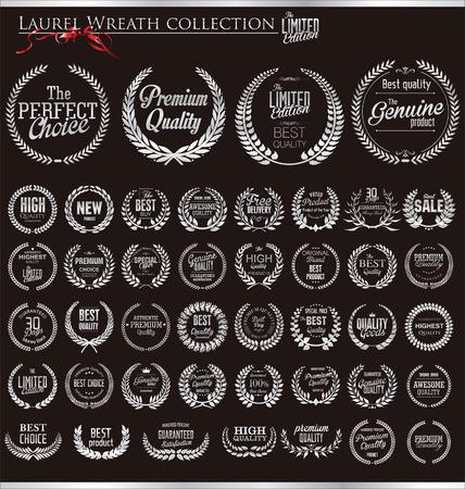 Premium kwaliteit lauwerkrans collectie Stock Illustratie