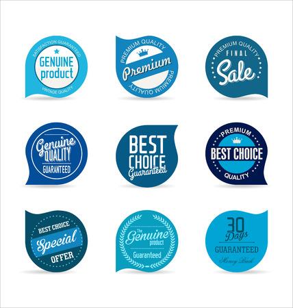 quality stamp: Modern badges collection Illustration