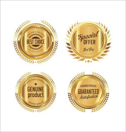 a luxury: Premium, quality retro vintage labels collection