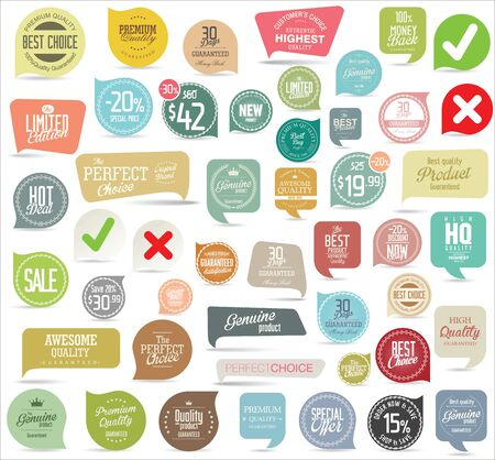 vintage badge: Modern badges collection Illustration