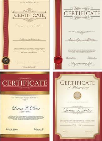 certificado: Colecci�n del modelo de certificado