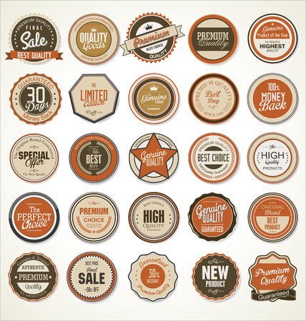 vintage sign: Premium quality retro vintage labels collection