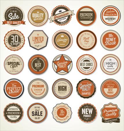 badge icon: Premium quality retro vintage labels collection