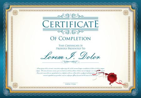 certificaatsjabloon Stock Illustratie