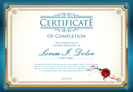 stocks: certificate template