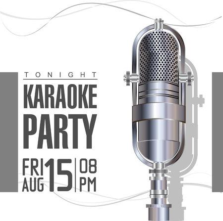 live concert: Karaoke retro poster
