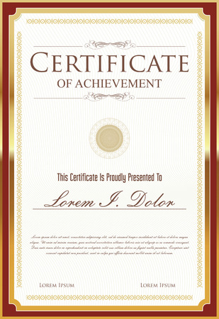 the template: certificate template