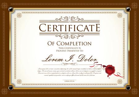 Modello di certificato Archivio Fotografico - 44313649