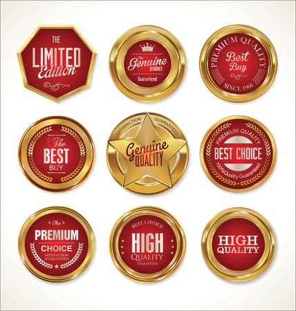 Gouden labels collectie