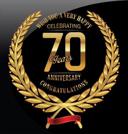 70 years: Anniversary golden laurel wreath 70 years