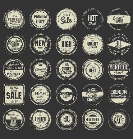 sello: Grunge sello de goma de la colección de primera calidad Vectores