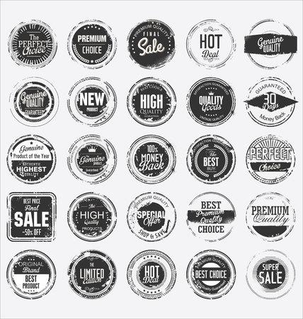sello: Grunge sello de goma de la colecci�n de primera calidad Vectores
