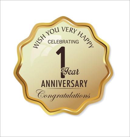 Anniversary retro golden label