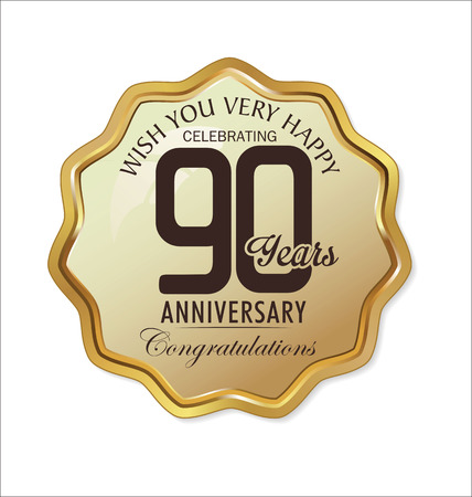 90: Anniversary retro golden label