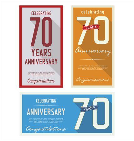 70: Anniversary retro background