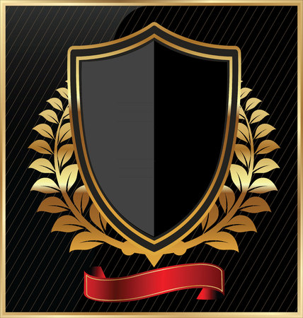 americana: Escudo con un marco de oro