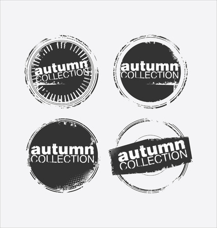 promo: Autumn collection grungy stamp