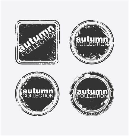 Autumn collection grungy stamp Vektorové ilustrace