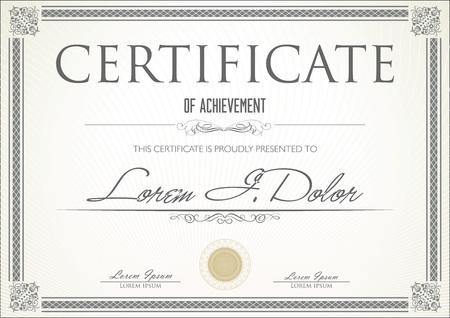 certificado: Certificado Vectores