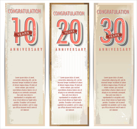 aniversario: Aniversario fondo retro Vectores