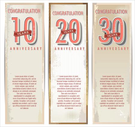 anniversary: Anniversary retro background