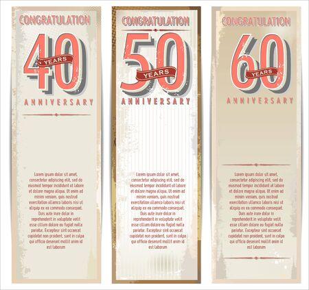 aniversario de boda: Aniversario fondo retro Vectores